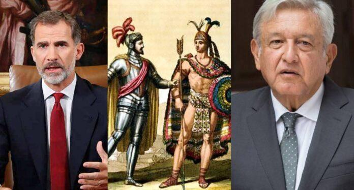 Rey Felipe de España y López Obrador